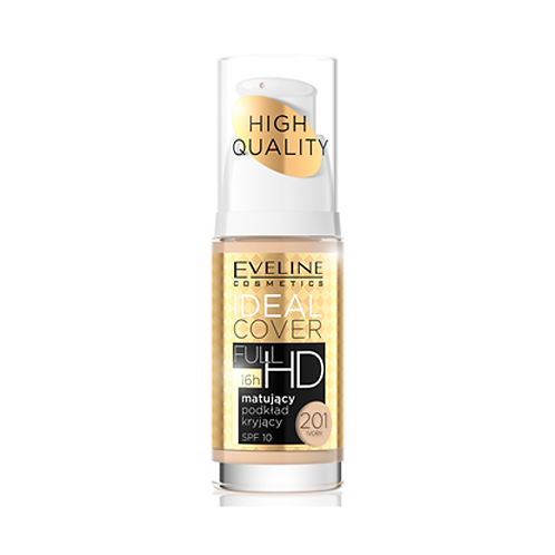 IDEAL COVER FULL HD MATT AND COVERING FOUNDATION  NO 201 IVORY 30ML