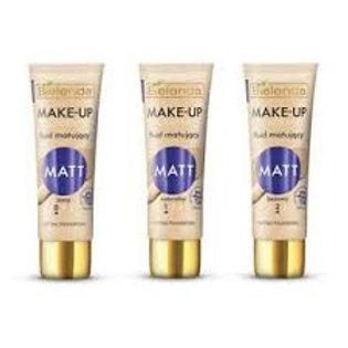 6PCS MAKE-UP ACADEMIE MATT - Matting fluids NATURAL 30G