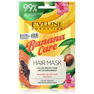 6PCS FOOD FOR HAIR BANANA CARE HAIR MASK 20ML