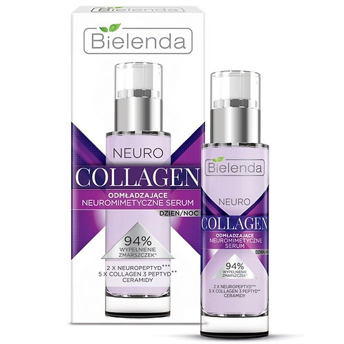 6 PCS COLLAGEN face serum day/night 30 ml