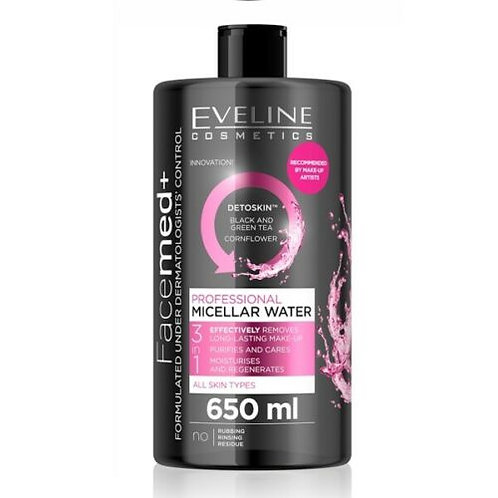 6pcs FACEMED+ PROFESSIONAL MICELLAR WATER 3IN1 650ML