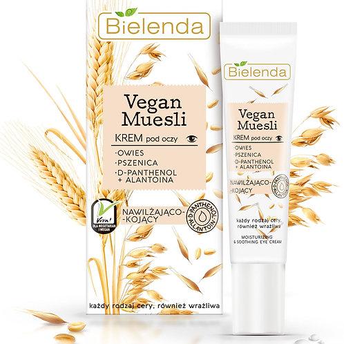6 pcs VEGAN MUESLI moisturizing sooth eye cream  oats + wheat + d-panthenol + a