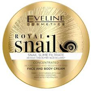 6pcs Eveline ROYAL SNAIL CONCENTRATED FACE AND BODY CREAM 200ML