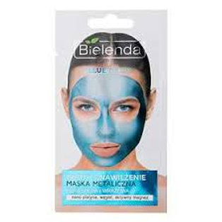 6PCS Blue Detox Metalic Moisturizing Mask Dry and Sensitive Complexion 8g