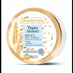 6pcs VEGAN MUESLI moisturizing body butter oats + wheat + coconut milk 250 ml