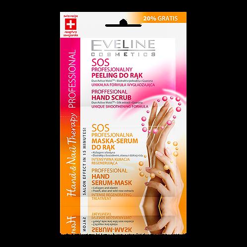 12PCS Professional Hand & Nail Therapy Hand Scrub & Hand Mask-Serum 2x6 ml