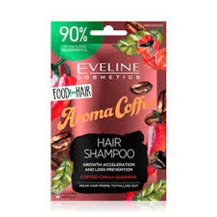 6PCS Food For Hair Aroma Coffee Care Hair Shampoo 20ml