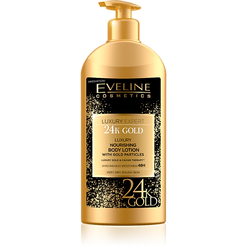 10PCS LUXURY EXPERT 24K GOLD NOURISHING BODY LOTION WITH GOLD PARTICLES 350ML