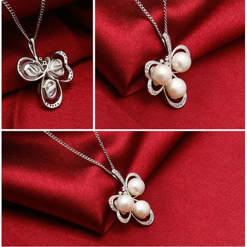 S925 Sterling Silver Floral Pear Pendant £13.00