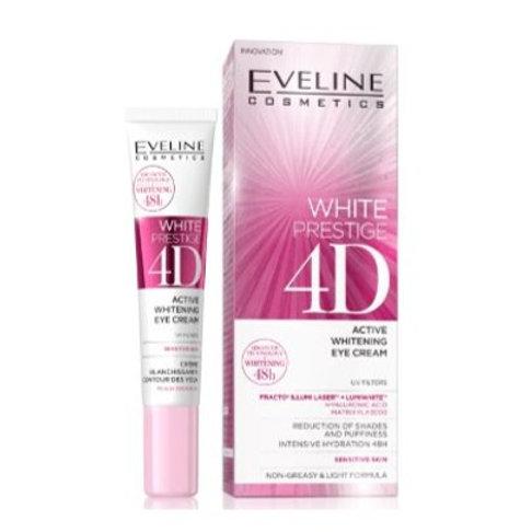 10pcs Eveline WHITE PRESTIGE 4D WHITENING EYE CREAM 20ML