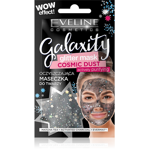 12pcs GLITTER MASK BLACK 10ML