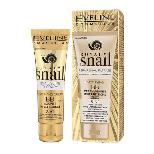 10pcs ROYAL SNAIL MATTIFYING BB CREAM AGAINST IMPERFECTIONS 8IN1 50ML