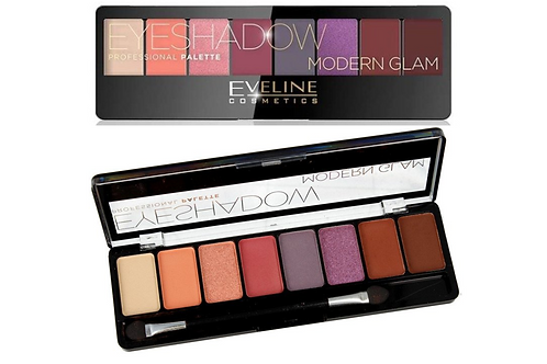 6pcs Eveline EYESHADOW PALETTE 8 COLORS MODERN GLAM