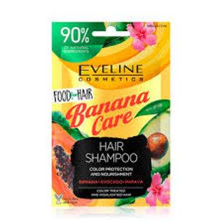 6PCS  Food for Hair Banana Care Hair SHampoo 20ml