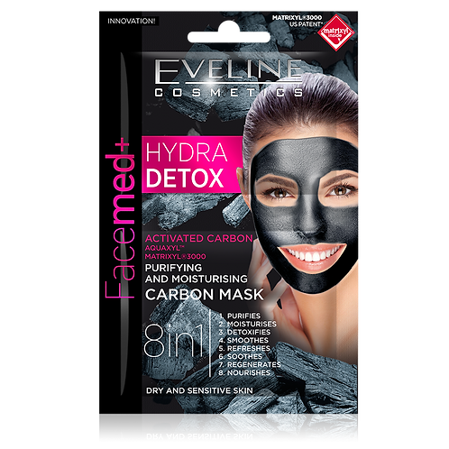 12PCS HYDRA DETOX - PURIFYING AND MOISTURISING CARBON MASK