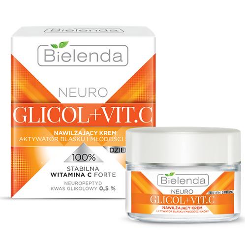 6 PCS NEURO GLICOL + VIT. C  Moisturizing face cream day SPF 20, 50 ml