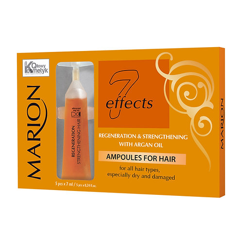 6pcs Ampoules for hair with Argan oil(5*7)ML