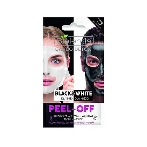 18pcs CARBO DETOX black&white cleansing peel-off mask for HER & HIM