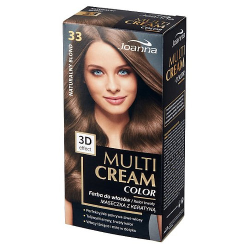 6PCS Multi Cream Color Hair Dye Natural Blonde 33
