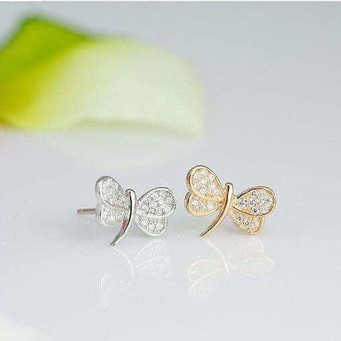S925 Sterling Silver Stud(gold)