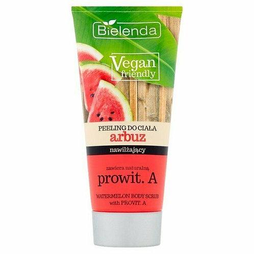 6pcs Vegan Friendly Watermelon Body Scrub With Provitamin a Exfoliates 200g
