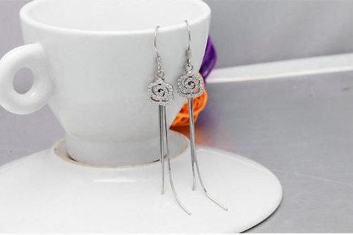 S925 Sterling Silver Flower drop earrings £10.00