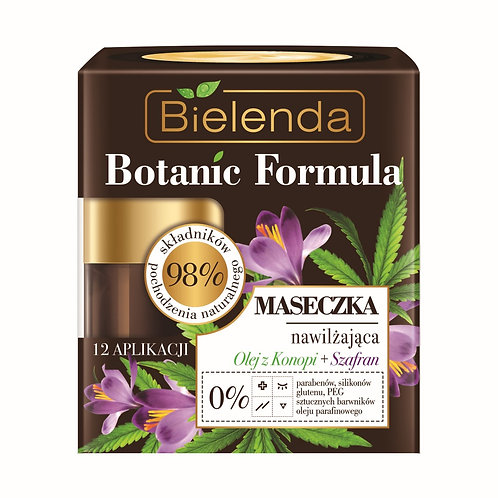 6pcs BOTANIC FORMULA Hemp Oil + Saffron Moisturizing face mask