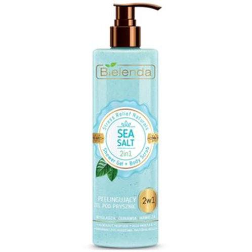 6pcs STRESS RELIEF NATURALS Sea Salt 2in1 shower gel + scrub 410 g