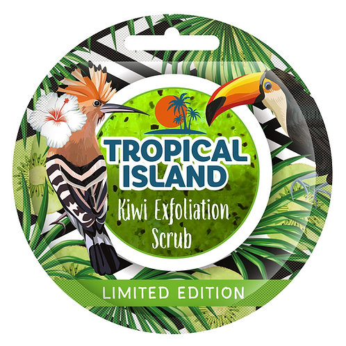 12PCS Tropical Island KIWI Exfoliation Scrub 10g
