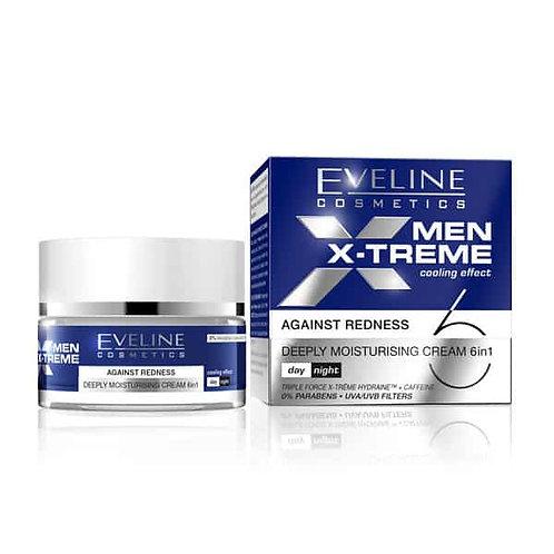5PCS Men X-treme Deeply Moisturising Cream 6 In 1 Against Redness 50 Ml