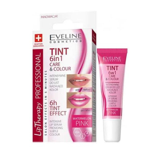 12PCS LIP THERAPY 6IN1 CARE&COLOUR TINT PINK