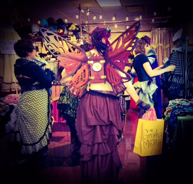 Steampunk Fairy with her Yellow Bag in NJ