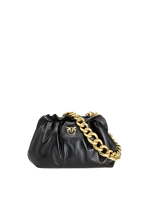 PINKO MINI CHAIN CLUTCH FRAMED CHAIN C