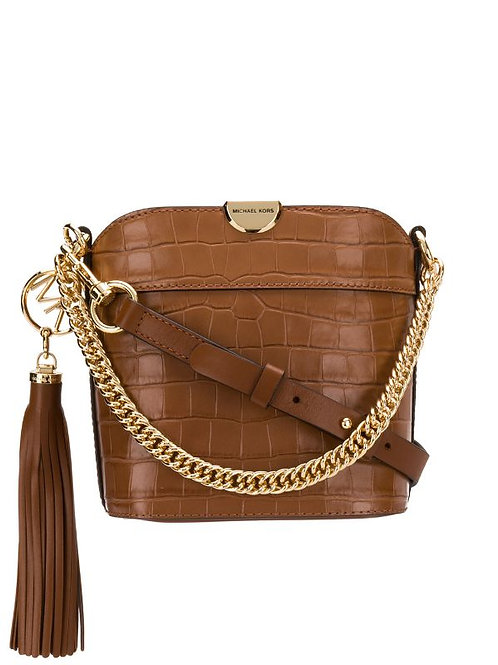 MICHAEL KORS BEA XS Bucket XBody Embossed Leather