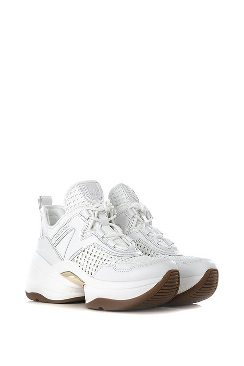 MICHAEL KORS OLYMPIA SNEAKERS IN WHITE