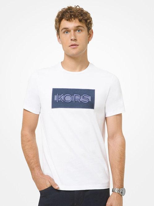 MICHAEL KORS Embroidered Logo Cotton T-Shirt