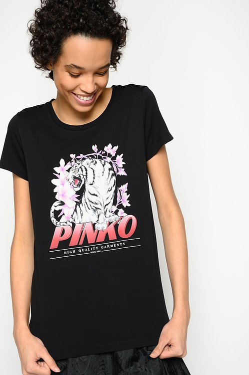 PINKO T-SHIRT WITH TIGERS