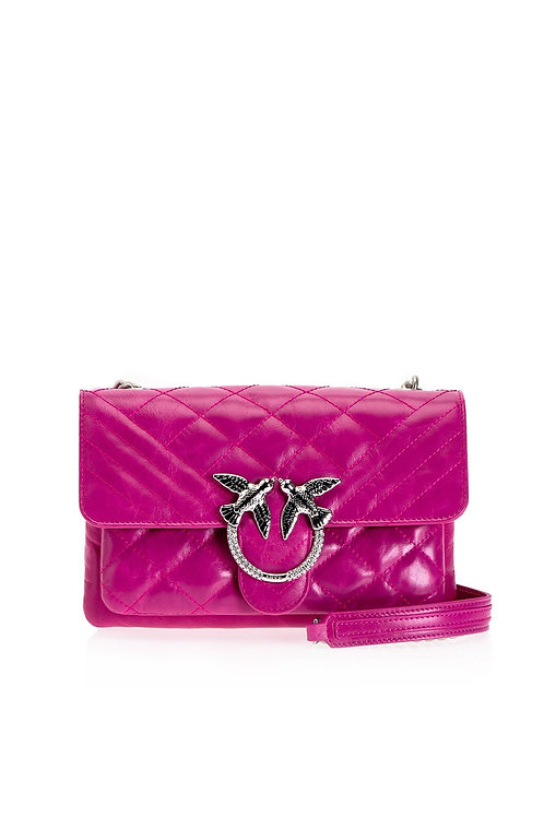 PINKO Mini Love Bag Soft Mix Shiny In Leather