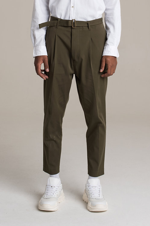 I'M BRIAN America pockets trousers with adjustable buckle