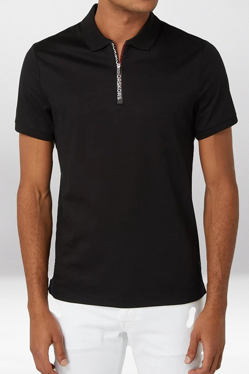 MICHAEL KORS Pima Cotton Quarter-Zip Polo Shirt