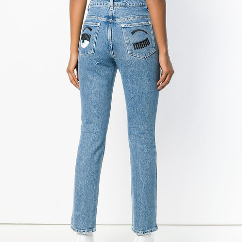 CHIARRA FERRAGNI Flirting straight-leg jeans