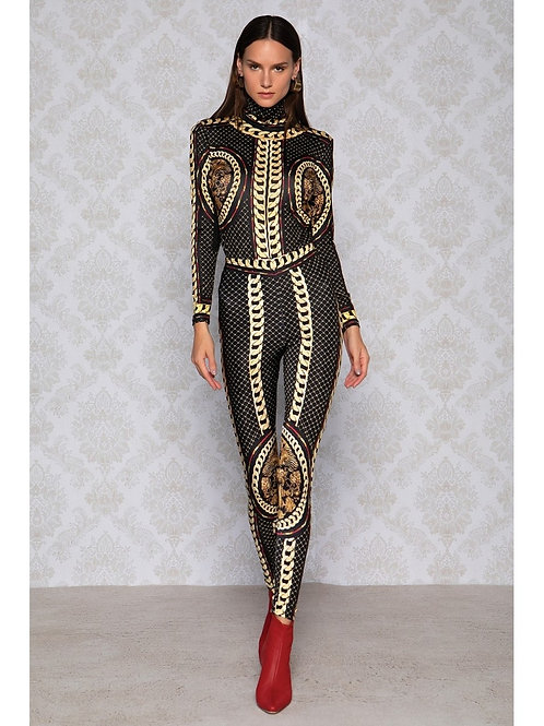 Peace&Chaos Gold Chain Bodysuit