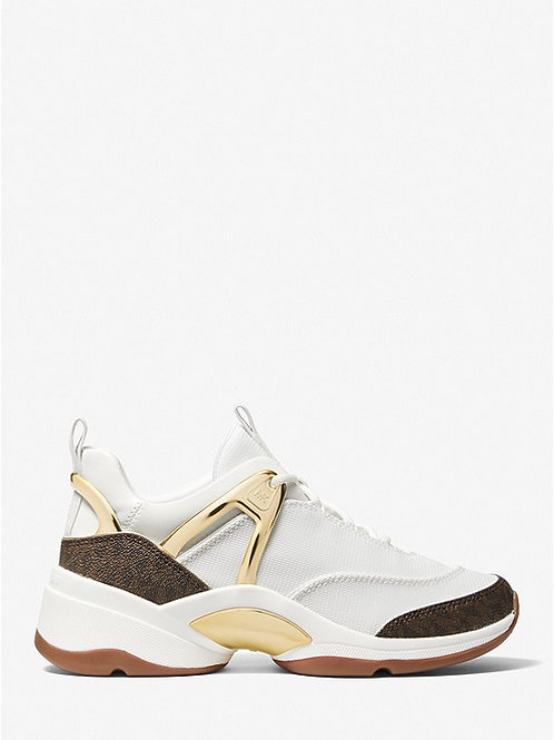 MICHAEL KORS Sparks Canvas and Logo Trainer
