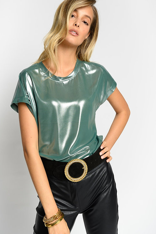 PINKO Farisa Laminated Georgette Top