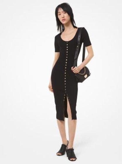 MICHAEL KORS Snap Front Midi Dress