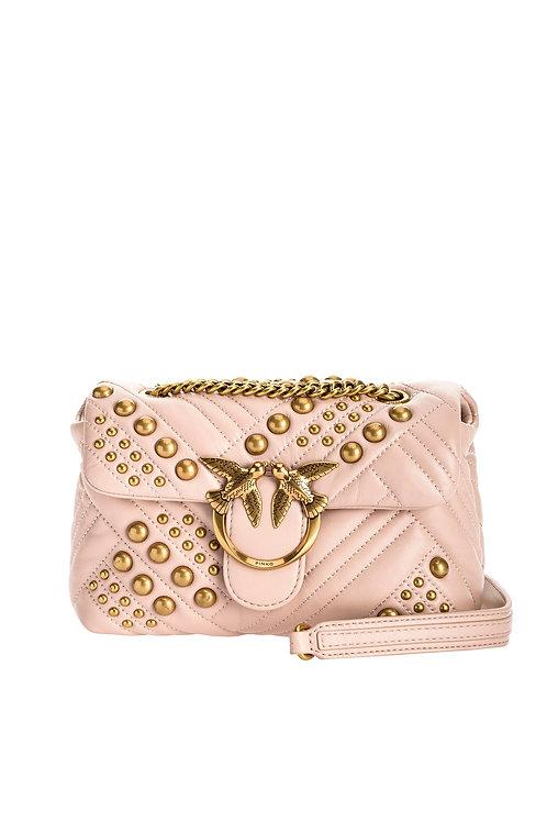 PINKO Mini Love Bag Puff Woven Studs