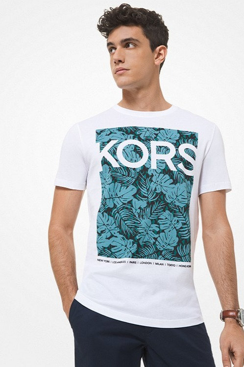 MICHAEL KORS Logo Cotton Jersey T-Shirt