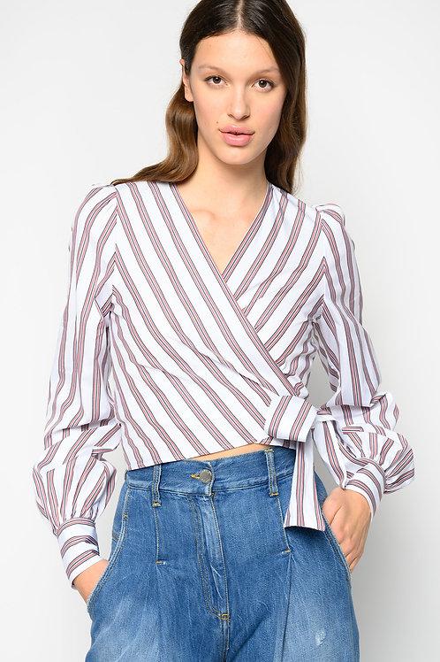 PINKO Striped Blouse