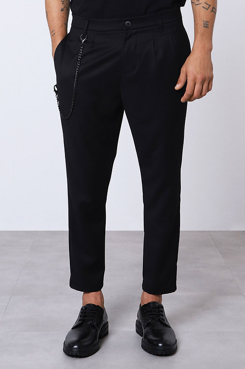 IMPERIAL Classic Trousers With Detachable Chain Detail