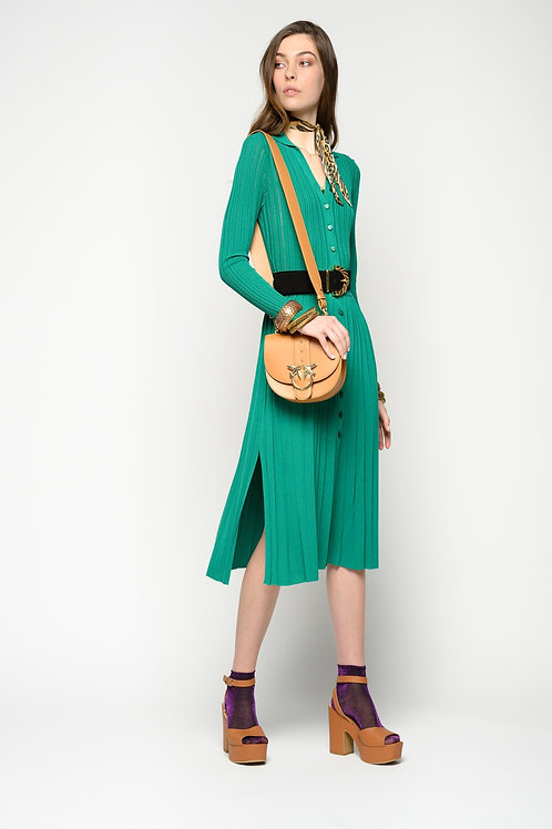 PINKO  Dress With Buttons In Lurex Knit